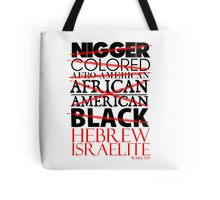 HEBREW ISRAELITE WHT Tote Bag