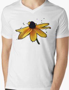Flower pixelated Mens V-Neck T-Shirt