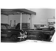 Old Garage, Hawthorne Poster