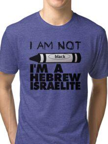 NOT BLACK WHT Tri-blend T-Shirt