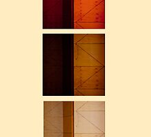 Tryptic of wood panels #3 by Robert Brindley
