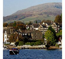 Ambleside, Cumbria from Lake Windermere Photographic Print