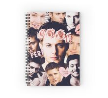 dean collage Spiral Notebook