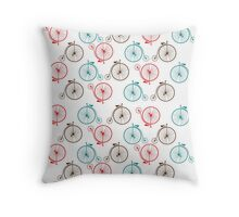 Penny Farthing Vintage Bicycle Throw Pillow