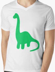 Brachiosaurus, Long-Neck Dinosaur (Loch Ness Monster) Mens V-Neck T-Shirt