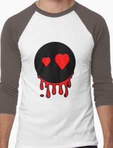 Funny cartoon bleeding head Men's Baseball ¾ T-Shirt