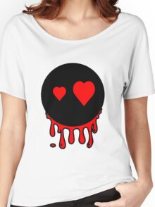 Funny cartoon bleeding head Women's Relaxed Fit T-Shirt
