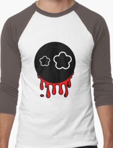 Funny cartoon bleeding head Men's Baseball ¾ T-Shirt