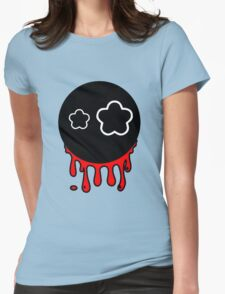 Funny cartoon bleeding head Womens Fitted T-Shirt