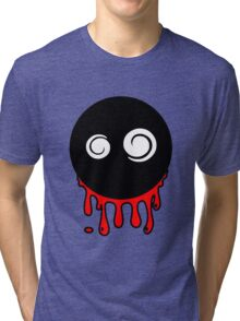 Funny cartoon bleeding head Tri-blend T-Shirt