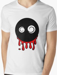 Funny cartoon bleeding head Mens V-Neck T-Shirt