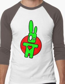 Funny cartoon bunny Men's Baseball ¾ T-Shirt