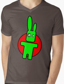 Funny cartoon bunny Mens V-Neck T-Shirt