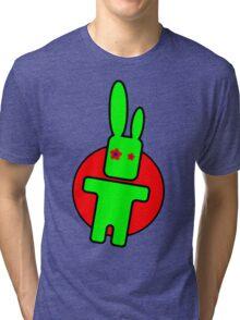 Funny cartoon bunny Tri-blend T-Shirt