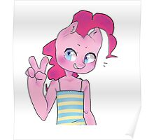 Pinkie Pie Anthro Peace Sign Poster