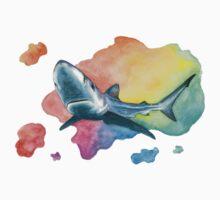 Blue Shark Baby Tee