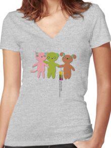 Trio Rio Friends Women's Fitted V-Neck T-Shirt