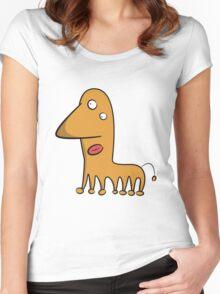 Funny cartoon alien Women's Fitted Scoop T-Shirt