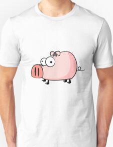 Funny cartoon pig Unisex T-Shirt
