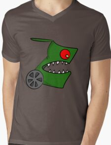 Funny cartoon angry alien Mens V-Neck T-Shirt