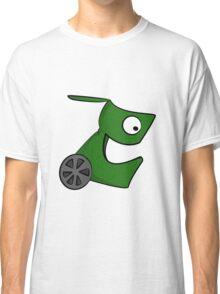 Funny cartoon green alien Classic T-Shirt