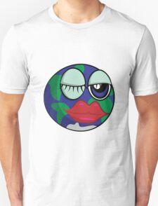 Funny cartoon planet Earth T-Shirt