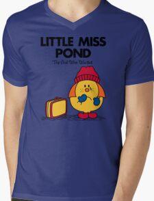 Little Miss Pond Mens V-Neck T-Shirt
