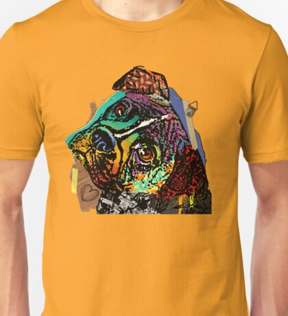 Boxer Mixed Media Collage Unisex T-Shirt