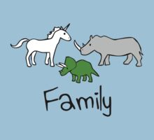 Family - Unicorn, Rhino, Triceratops by jezkemp