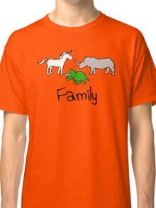 Family - Unicorn, Rhino, Triceratops Classic T-Shirt