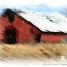 The Old Red Barn by Sandra Bauser Digital Art
