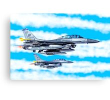 F-16 Flying Falcon Jets In Flight Canvas Print