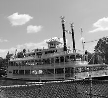 Mark Twain Riverboat  by CarolRay