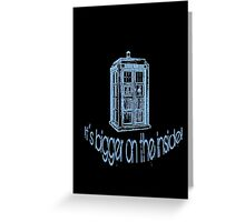Get to the Tardis! Greeting Card