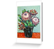 Proteas. Oil on canvas.  2012Ⓒ  Greeting Card