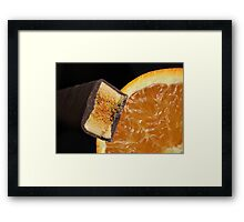 Chocolate Orange Framed Print