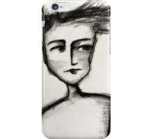 Her head could not contain her thoughts.... iPhone Case/Skin