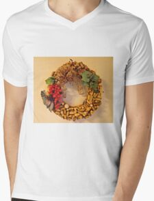 Cork Wreath Mens V-Neck T-Shirt