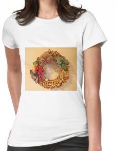 Cork Wreath Womens Fitted T-Shirt