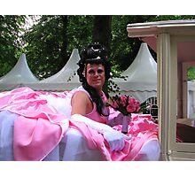 Drag Queen makes a ride on Pink Saturday Photographic Print