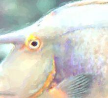 Bluespine Unicorn Fish Sticker