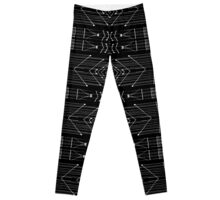 Black and White Tribal  Leggings