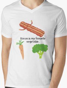 Bacon is My Favorite Vegetable Mens V-Neck T-Shirt