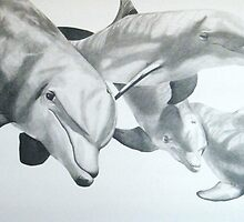 Serenity-Dolphins peacefulness by Ron Griggs