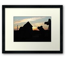 preparing cannon fire for discovery channel Framed Print