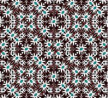 Modern Floral Geometric Pattern by DFLC Prints