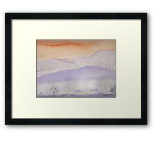 Lonley Hills Framed Print