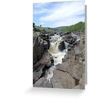 High Force waterfall Greeting Card