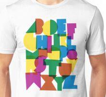 Paper alphabet Unisex T-Shirt