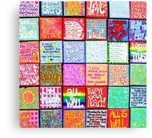 Collection Of Inspiration - Square Canvas Print
